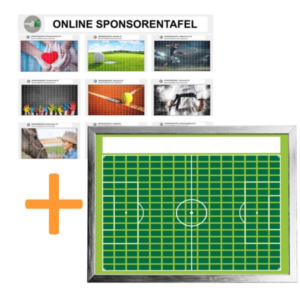 Bundle Online-Sponsorentafel und Sponsorentafel-Fußball-Innenbereich von Die Sponsorentafel Ralph Wendling