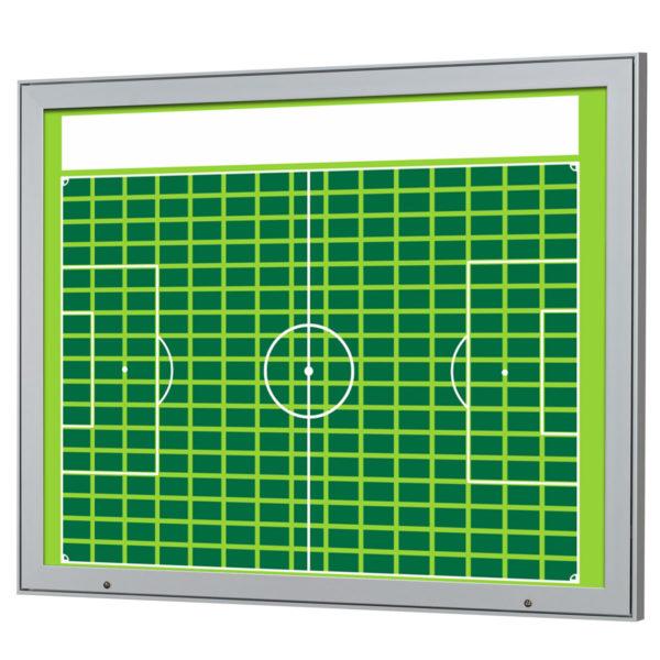 Sponsorentafel für den Außenbereich für Sportvereine und Organisationen. Schaukasten mit Klapp Tür Gasdruckfedern und Schlössern zur Wandmontage
