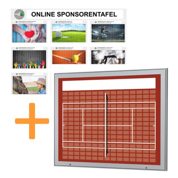 Aussenbereich-Sponsorentafel-Bundleprodukt-Design Tennis