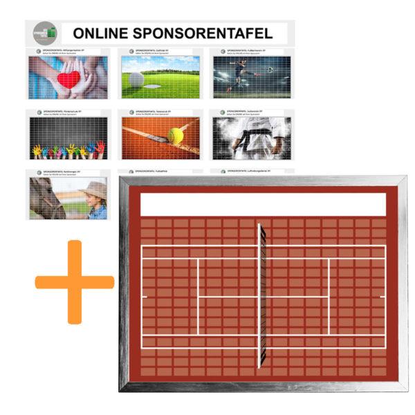Bundle Online-Sponsorentafel und Sponsorentafel-Tennis-Innenbereich von Die Sponsorentafel Ralph Wendling