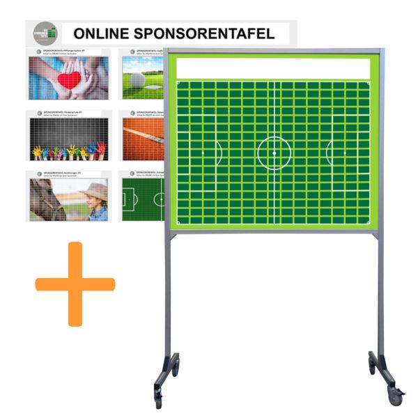 Sponsorentafel-Rollbar-Mobil-Fußball-Design