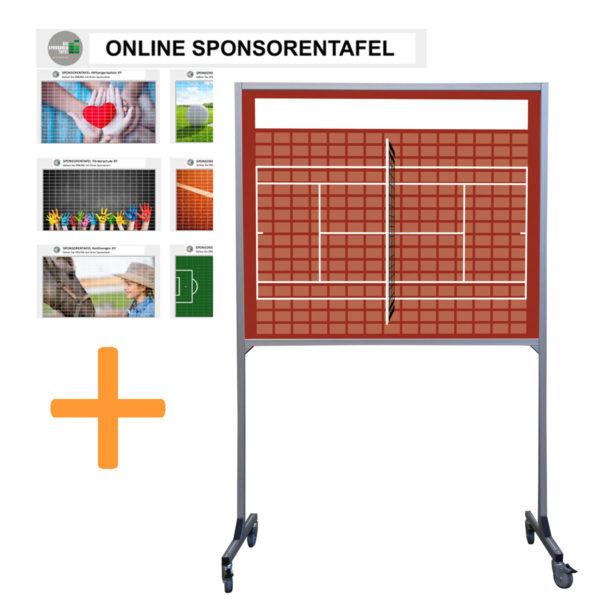 Bundleprodukt Sponsorentafel-Rollbar-Mobil-Tennis-Design