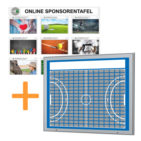 Aussenbereich-Sponsorentafel-Bundleprodukt-Design Handball