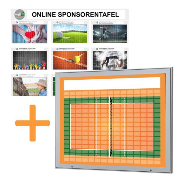 Aussenbereich-Sponsorentafel-Bundleprodukt-Design Volleyball